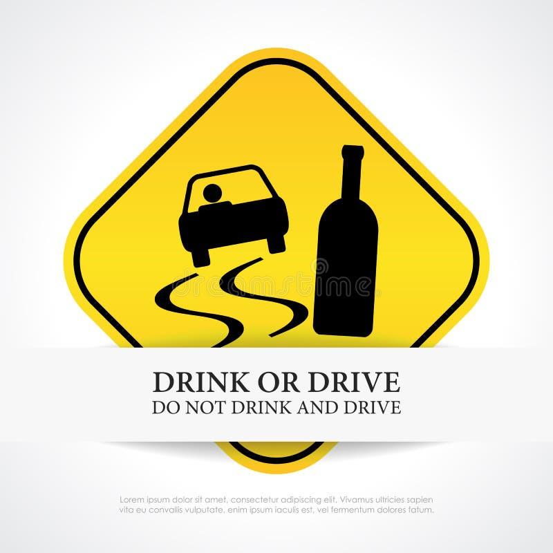 Não beba e não conduza ilustração do vetor
