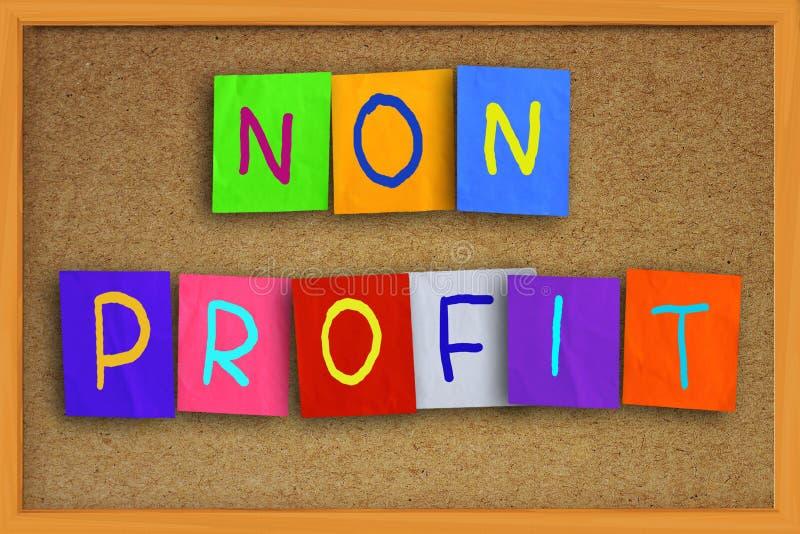 Não conceito do lucro imagens de stock royalty free