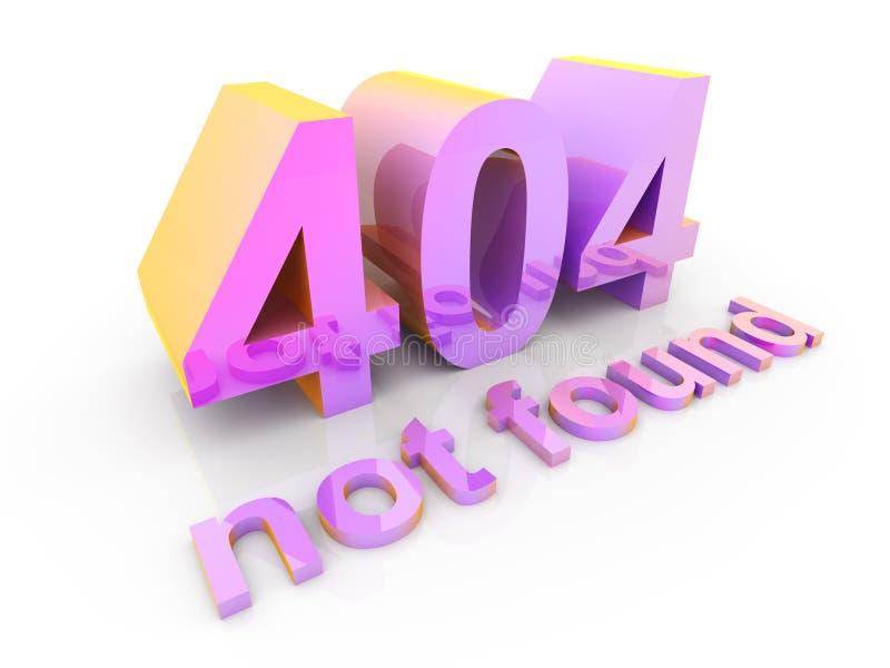 404 - não encontrado ilustração do vetor