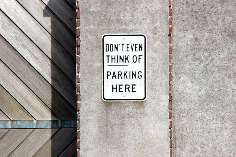 Não estacione aqui imagens de stock