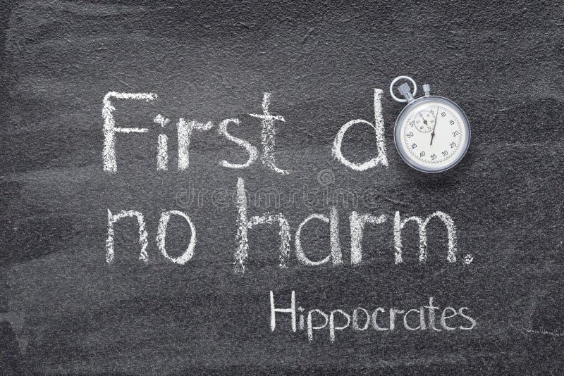 Não faça mal a Hipócrates imagens de stock