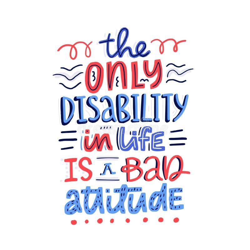 Não faz o juiz Disability do ` ilustração royalty free