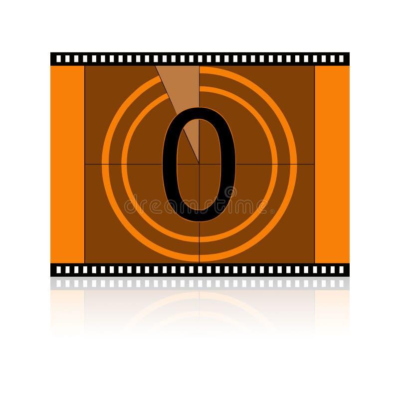 Não filme nenhum 0 zero imagens de stock royalty free