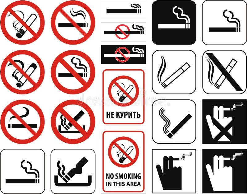 Não fumadores + arquivo do vetor ilustração royalty free