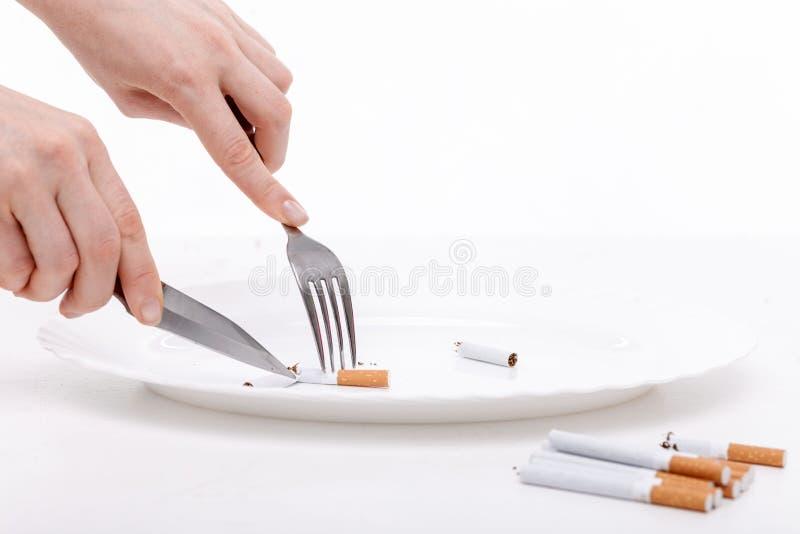 Não fume a nicotina e seja saudável imagens de stock