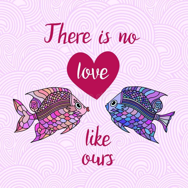Não há nenhum amor como os nossos ilustração stock