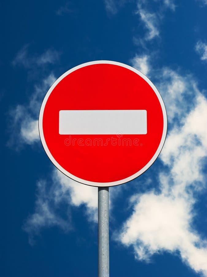 Não incorpore o sinal de tráfego foto de stock royalty free