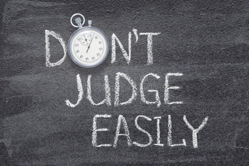 Não juiz facilmente imagens de stock