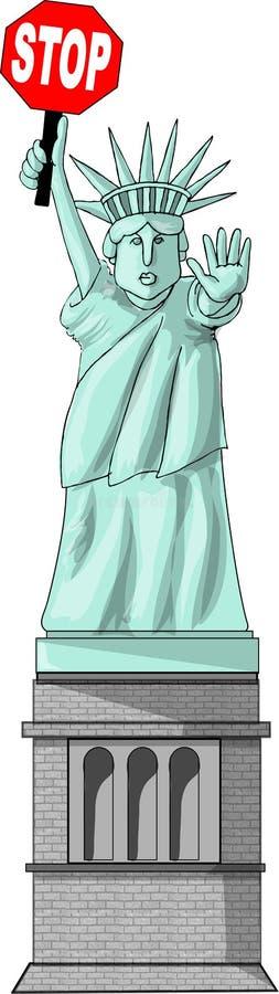 Download Não mais ilustração stock. Imagem de francês, estátua, porto - 50443