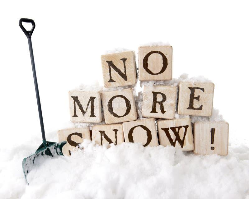 Não mais neve! foto de stock