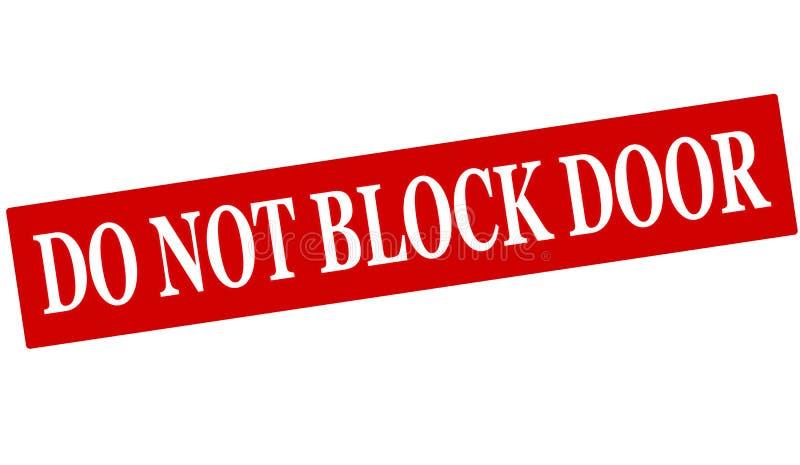 Não obstrua a porta ilustração stock