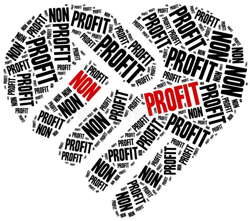 Não organização ou negócio do lucro ilustração royalty free