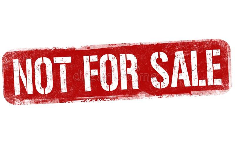 Não para o sinal ou o selo da venda ilustração do vetor