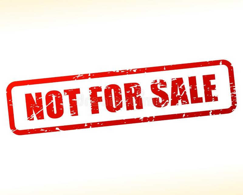 Não para o texto da venda protegido ilustração royalty free
