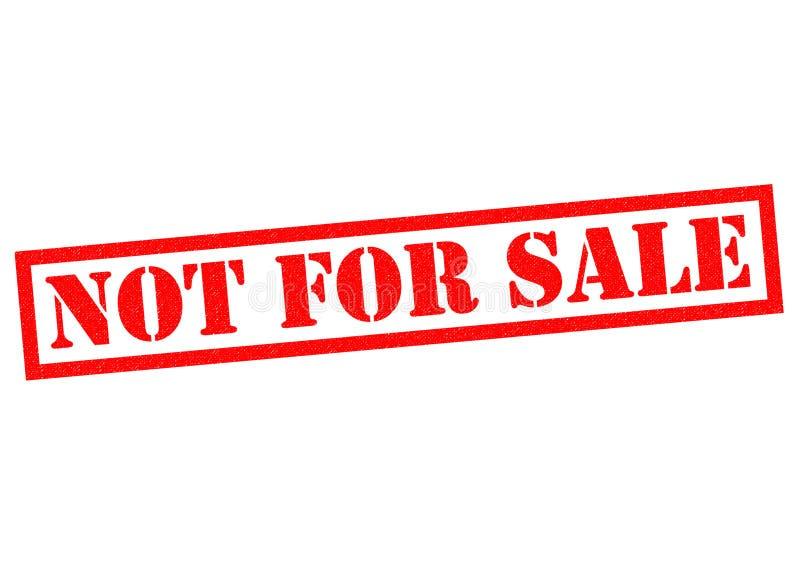 Não para a venda ilustração stock