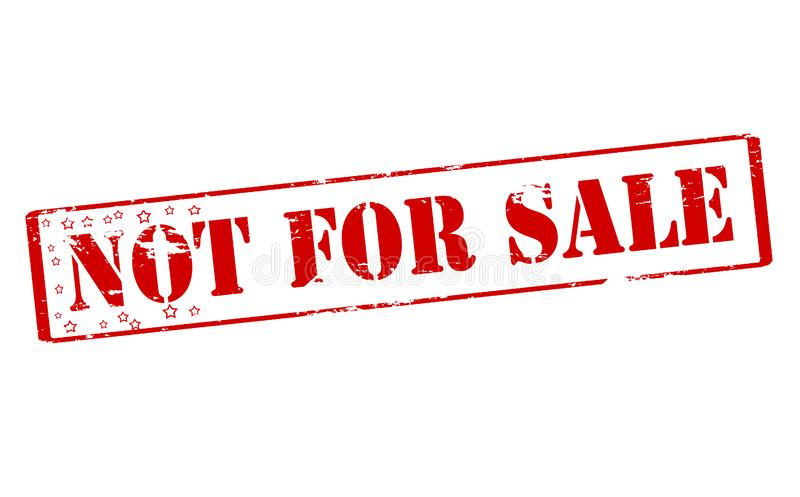 Não para a venda ilustração royalty free