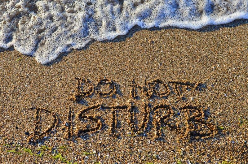 Não perturbe - a resposta das férias imagens de stock