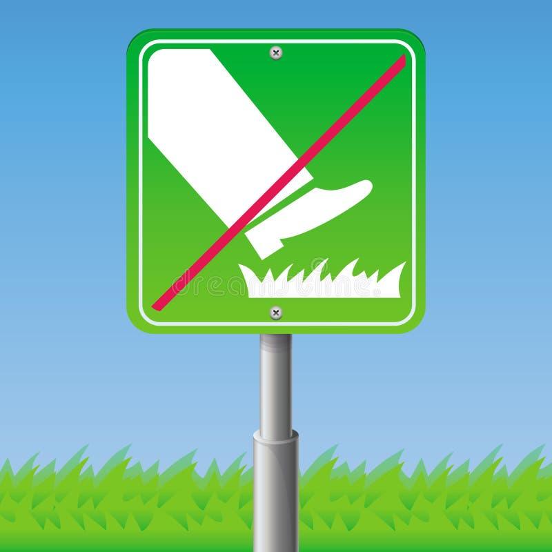 Não pise na grama - sinal ilustração royalty free