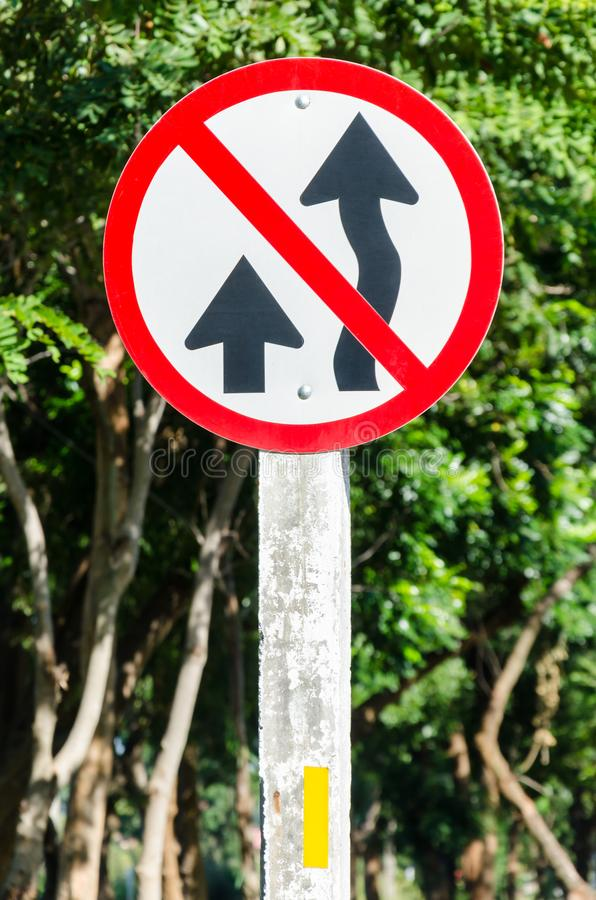Não sobre a tomada do sinal de rua imagem de stock