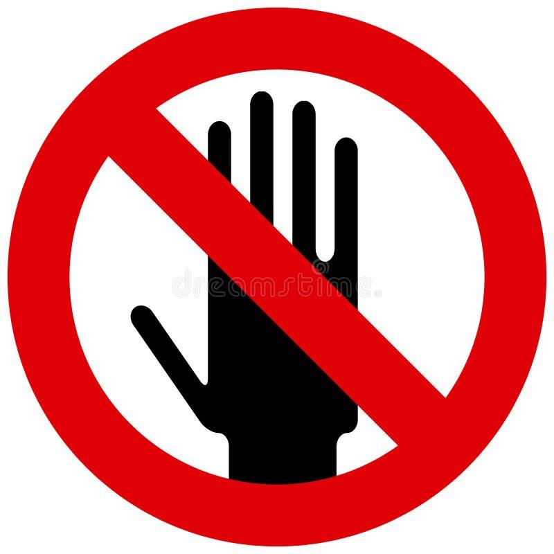 Não toque no sinal ilustração royalty free