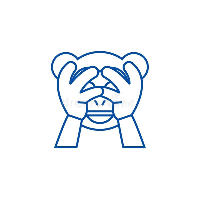 Não veja nenhuma linha má conceito do emoji do ícone Não veja nenhum símbolo liso do vetor do emoji mau, sinal, ilustração do esb ilustração do vetor