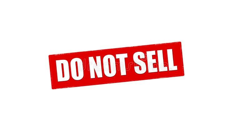 Não venda ilustração stock