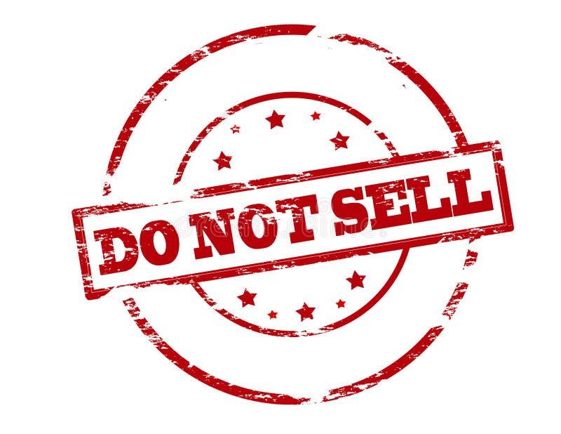Não venda ilustração royalty free