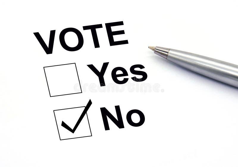 Não votando nenhuma verificação-caixa imagem de stock royalty free