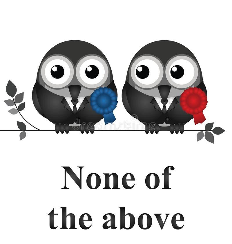 Não votando para políticos ilustração do vetor