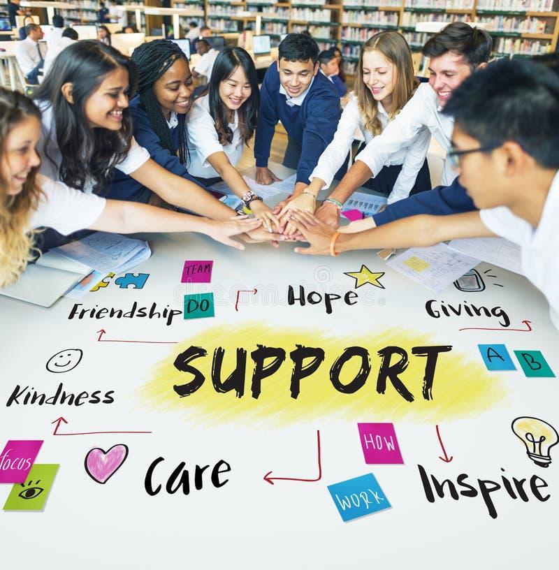 Nächstenliebe-Gemeinschaftsanteil-Hilfskonzept stockfoto