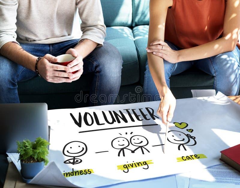Nächstenliebe-Spenden-Mittel beschaffendes gemeinnütziges freiwilliges Konzept lizenzfreie stockfotos