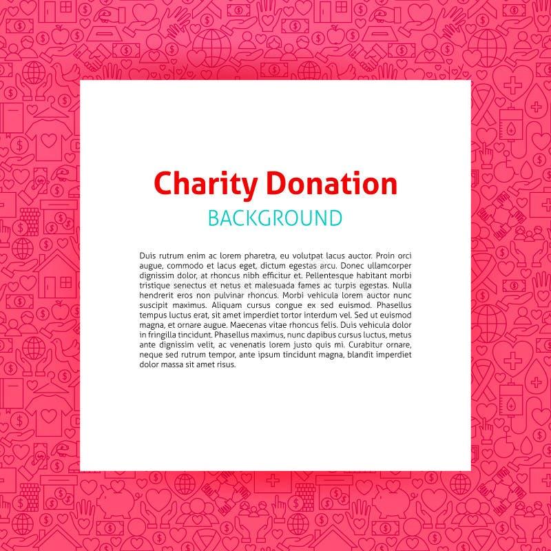 Nächstenliebe-Spenden-Papier-Schablone lizenzfreie abbildung