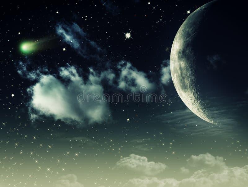 Nächtliche Himmel stockfoto