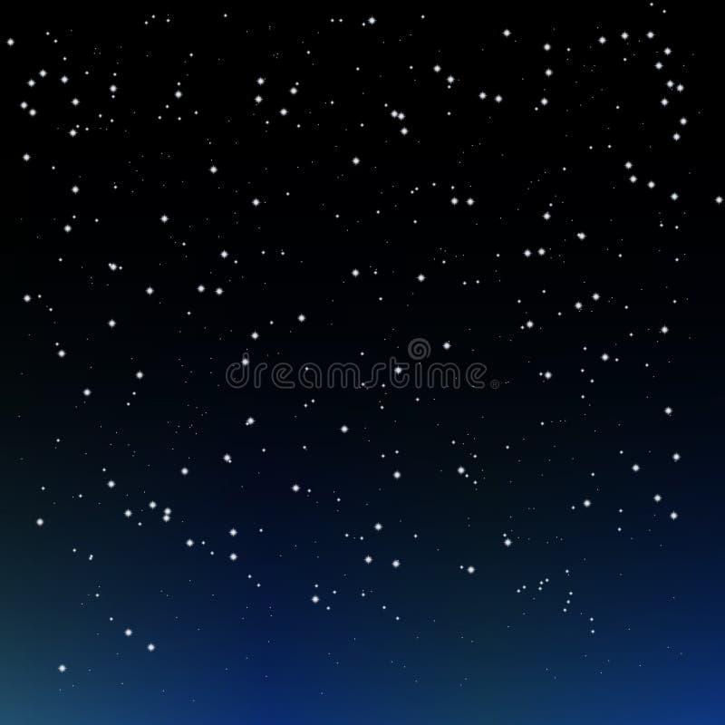 Nächtlicher Himmel mit Sternen stock abbildung