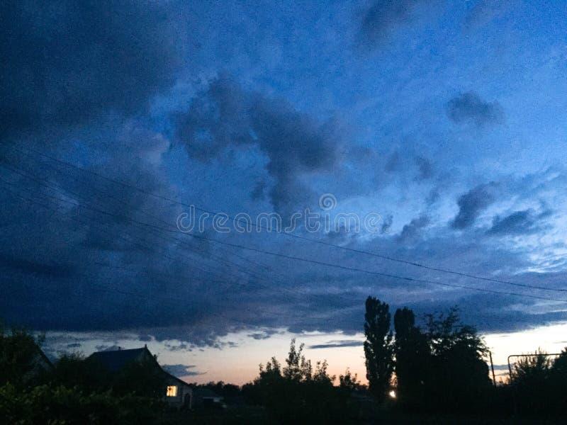 nächtlicher Himmel in Russland stockfoto
