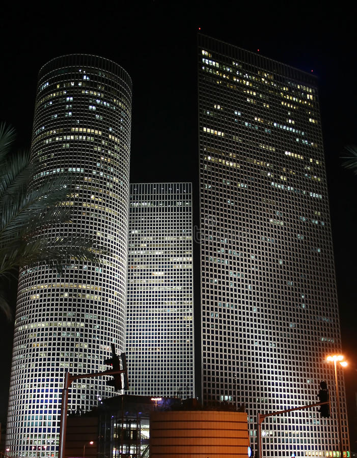 Nächtliches Tel Aviv stockfotografie