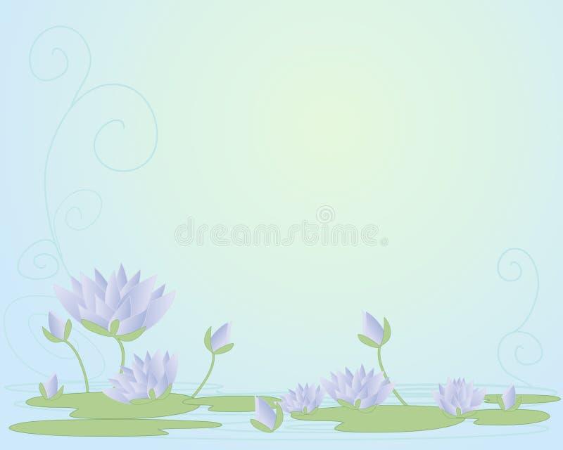 Näckrosbakgrund royaltyfri illustrationer