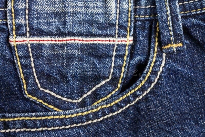 Nähende Linie von Jeans stockfotos
