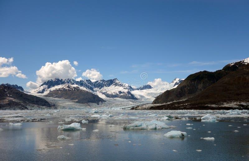 Nähern des Gesichtes eines Gletschers am Ton Prinzen William lizenzfreie stockbilder
