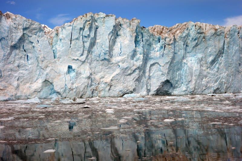 Nähern des Gesichtes eines Gletschers am Ton Prinzen William stockbilder