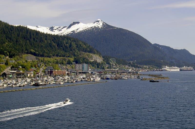 Näherndes Ketchikan Alaska stockfotografie