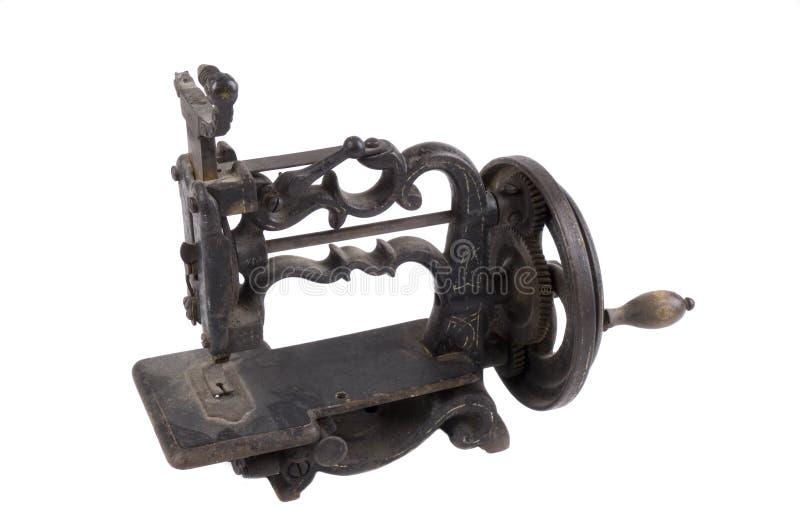 Nähmaschine des antiken Minikurbels lizenzfreies stockfoto