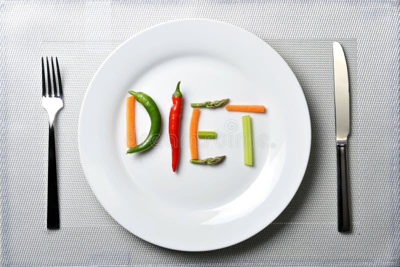 Nähren Sie geschrieben mit Gemüse in gesundes Nahrungskonzept lizenzfreies stockfoto