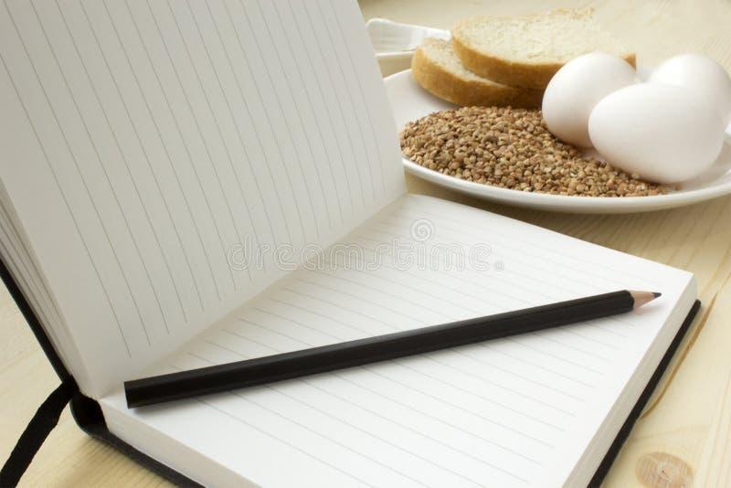 Nähren Sie Tagebuch stockbild