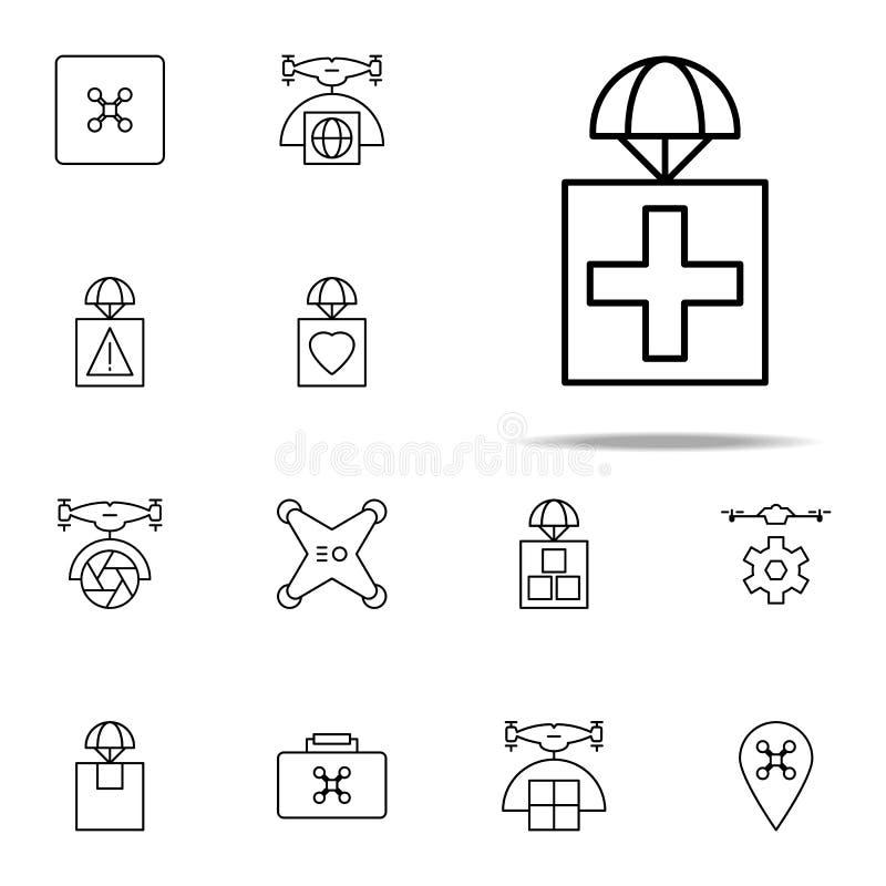 nämna först med medicinsymbolen Universell uppsättning för surrsymboler för rengöringsduk och mobil vektor illustrationer