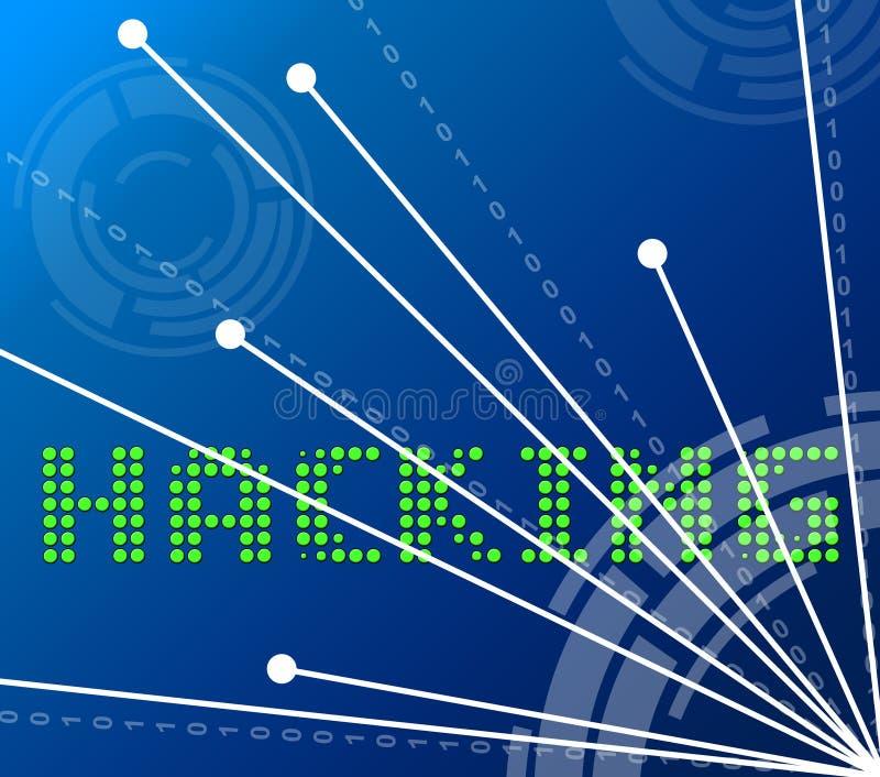När du hackar datapunkter visar den hackade illustrationen för valet 3d royaltyfri illustrationer