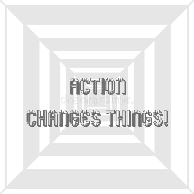 När du skriver anmärkningsvisninghandling ändrar saker Affärsfoto som ställer ut starten som gör något mot problembeslut eller stock illustrationer