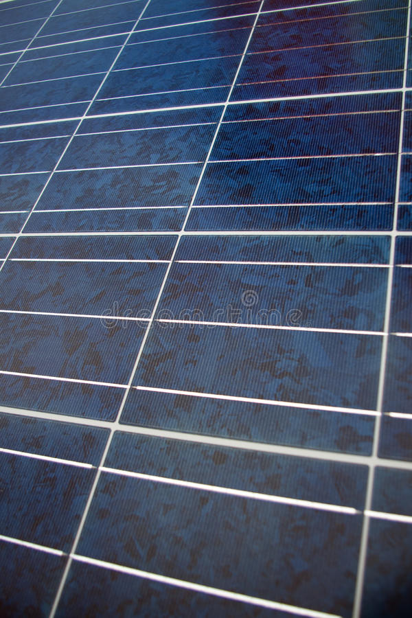 Nära övre för solpanel arkivbild