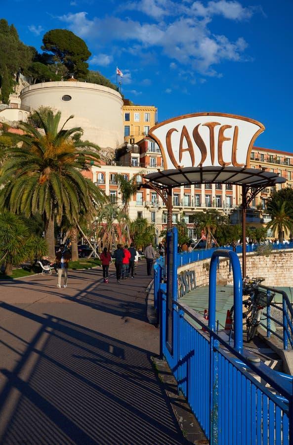 Nära havet i Nice arkivbilder