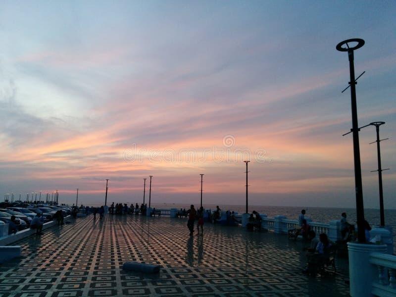 Nära havsljuset fotografering för bildbyråer